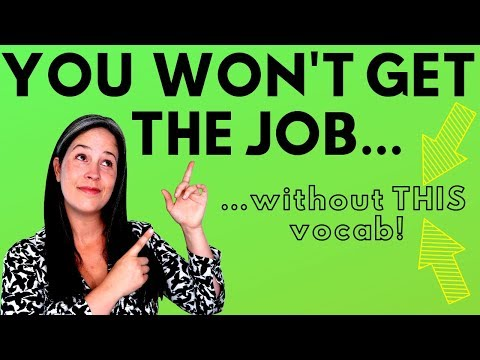 JOB INTERVIEW VOCABULARY | ENGLISH INTERVIEW WORDS | HOW TO INTERVIEW IN ENGLISH | INTERVIEW ENGLISH