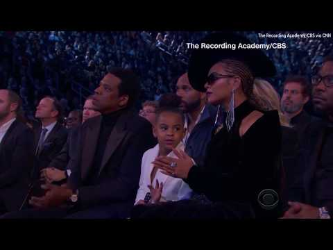 Did Blue Ivy shush Beyonce and Jay-Z during the Grammys?