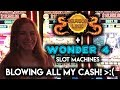 SOUR Day at the Casino! Dragon Link and Classic Wonder 4 Slot Machines!