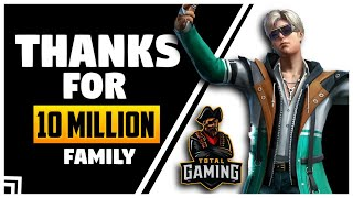 Garena Free Fire Live Thank You For 10 Million Subscriber Family