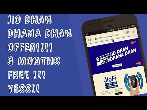 JIO DHAN DHANA DHAN OFFER!! | 3 MONTHS FREE!!! | NEW OFFER ...