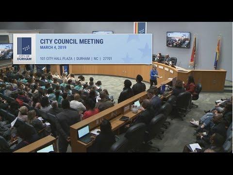 Durham City Council Mar 4, 2019