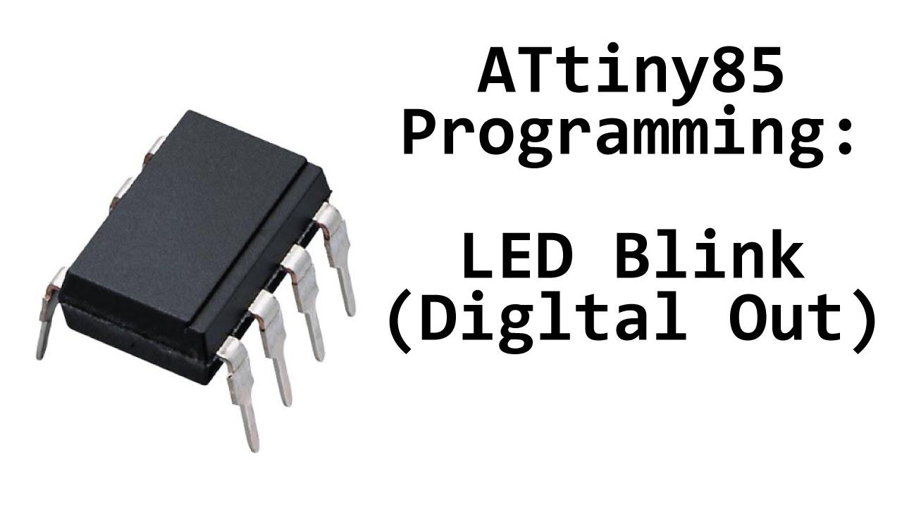 Avr Attiny85 Programming Blink Led Digital Output Youtube Usbasp Programmer Flickr Photo Sharing