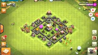 HDV 7 MAXÉ + roi LVL 5 | Clash of clans