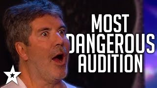 Simon Cowell Has KNIVES Thrown At Him On Britain's Got Talent 2019! | Got Talent Global