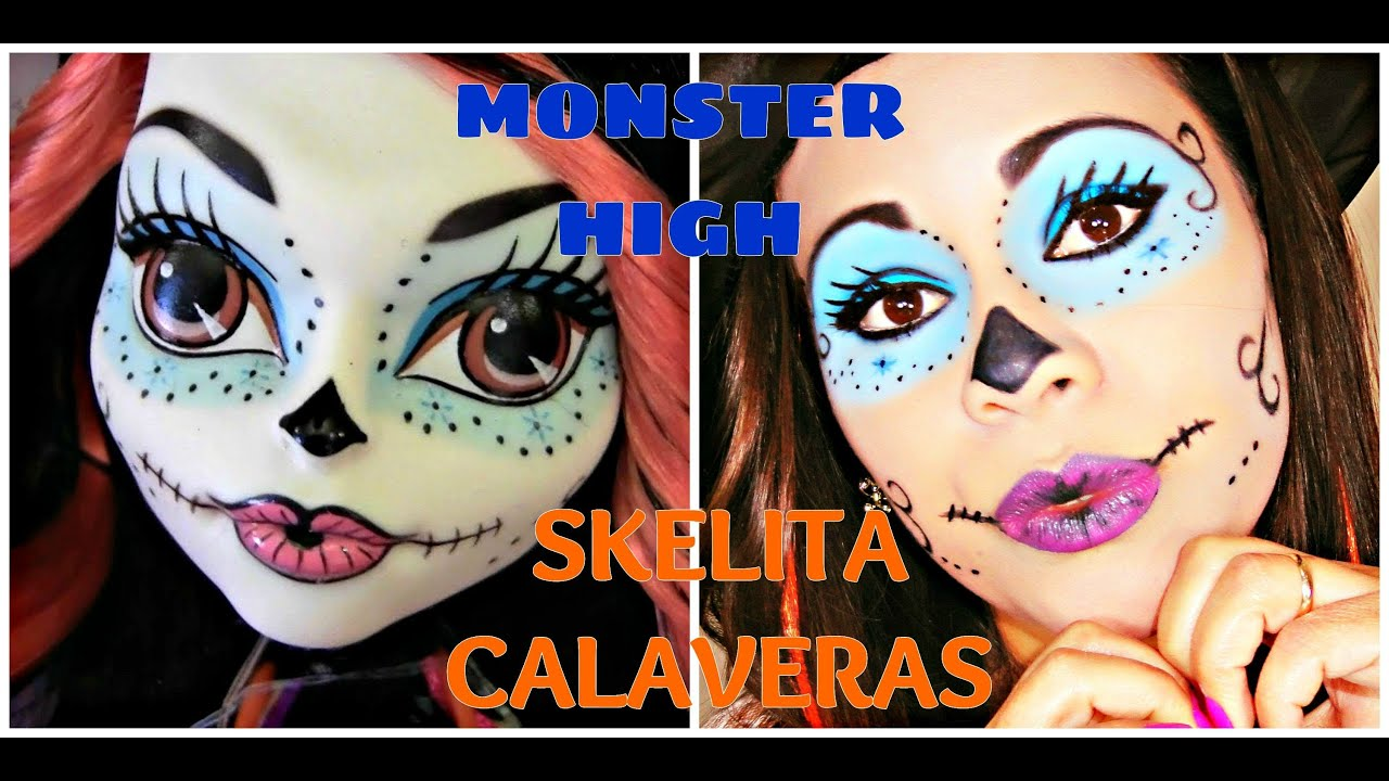 MAQUIAGEM P/ HALLOWEEN MONSTER HIGH - YouTube