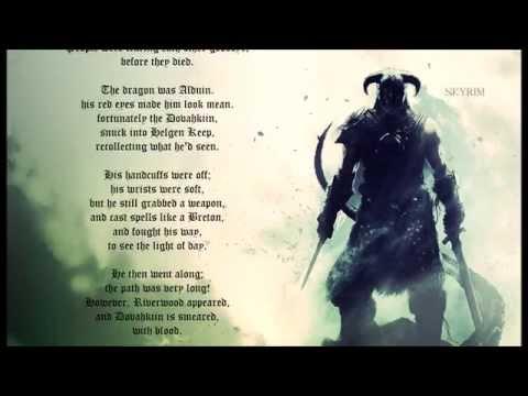 Skyrim Epic Poem
