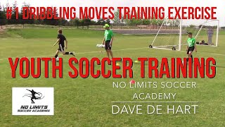 Soccer Skills Training: Dribbling and Moves Exercise - U13 Players