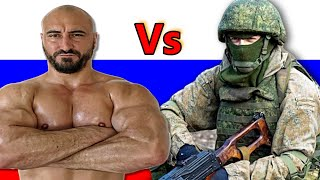 Bodybuilder Tries the Russian Army Fitness Test