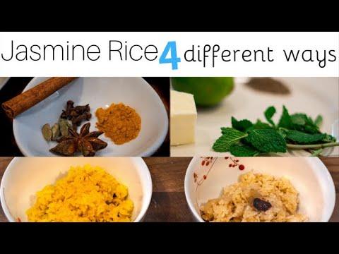 JASMINE RICE RECIPE MADE 4 WAYS with B Roll | FRESH HERBS LIKE ROSEMARY, MINT and CARDAMOM