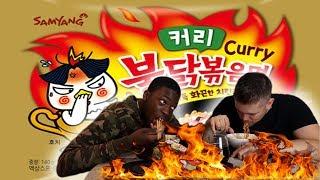 KOREAN FIRE SPICY NOODLE LEVEL 3  ** SAMYANG CHALLENGE** | Bradley Chlopas