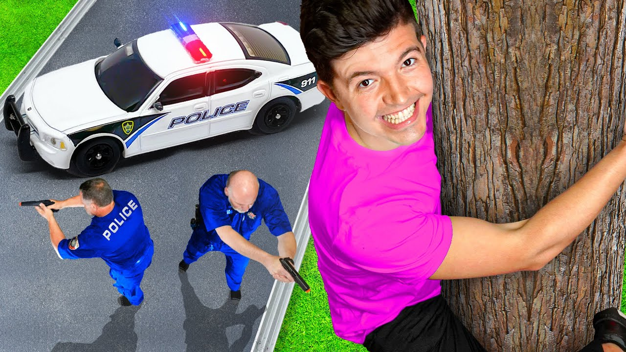 I Challenged Real POLICE to Hide and Seek!