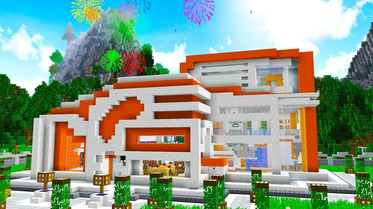 Futuristic House world's most futuristic minecraft house.. - youtube