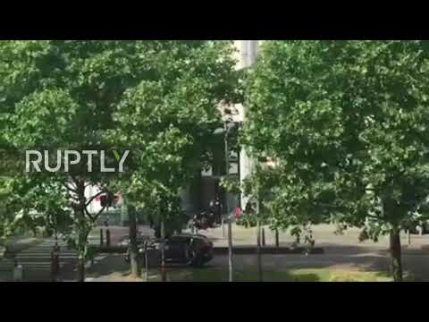 Belgium: Footage captures moment police shoot Liege attacker dead *EXCLUSIVE*