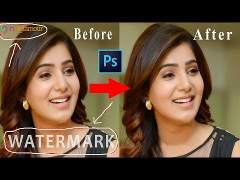 How to Quick WATERMARK REMOVE from Photo into 1 Minute in Photoshop CS6 or CC