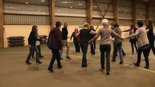Crop circle line dance