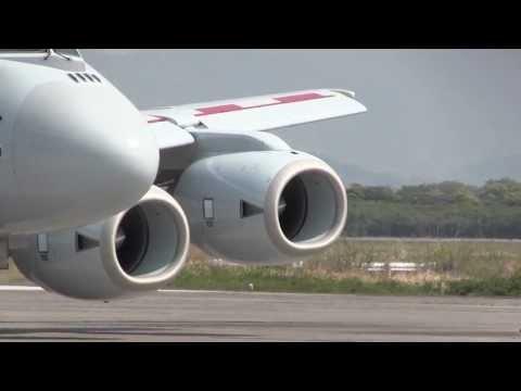 川崎P-1 エンジン始動~タキシング~離陸 KAWASAKI P-1 Engine start - takeoff