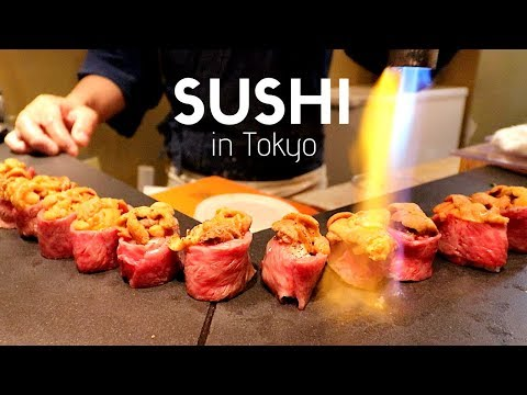 $125 Exclusive Japanese Uni Sushi Restaurant in Tokyo Ginza