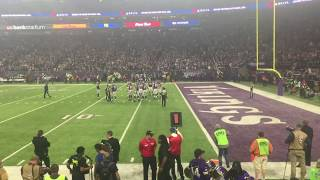 Case Keenum Leads Crowd In Skol Chant Following Victory Over Saints