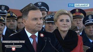 Wystąpienie Prezydenta Andrzeja Dudy podczas obchodów 101. rocznicy odzyskania niepodległości