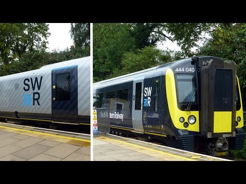 First Train in the new South Western Railway (SWR) Livery