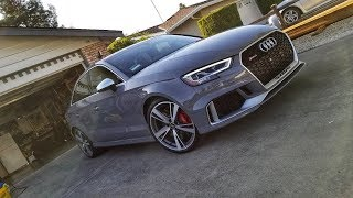 Detailed (owner's) Review of the 2018 Audi RS3 Sedan