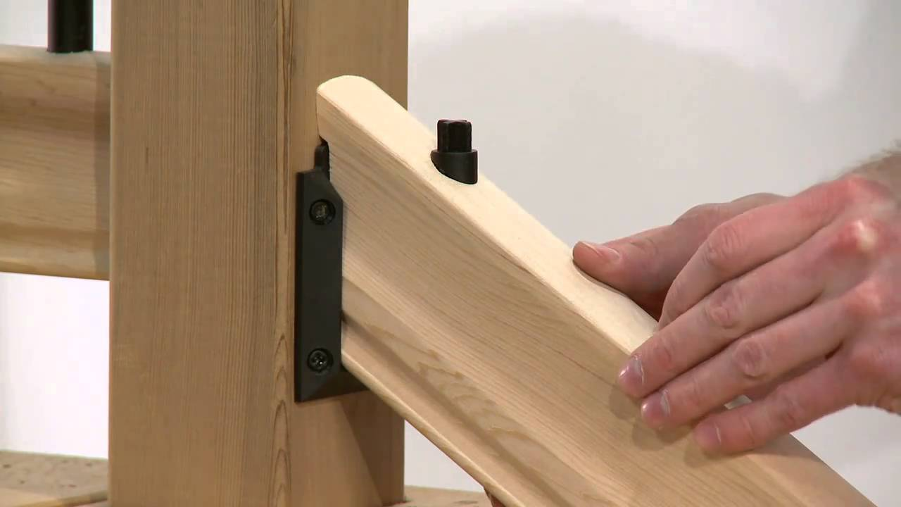 How to Install a Rail Simple Traditional Stair Railing Kit - YouTube