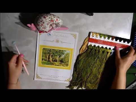 """Организация процесса вышивка """"Дубовая роща"""" китайский набор"""