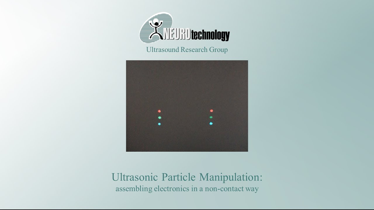 Ultrasonic Particle Manipulation Assembling Electronics In A Non 25 Khz Ultrasound Transducer And Electrical Engineering Contact Way