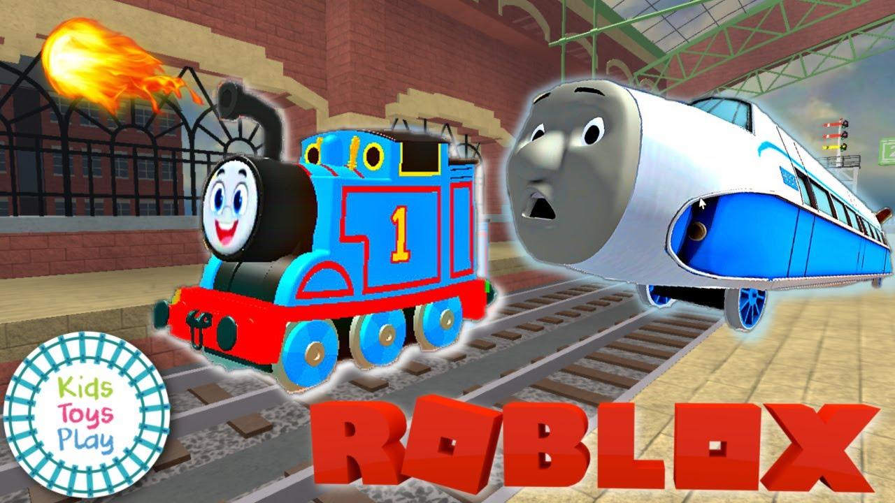 Kids Toys Play ROBLOX Simulator with Thomas the Train