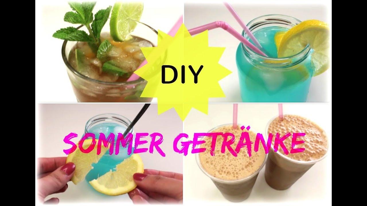 DIY: 3 erfrischende Sommergetränke - sehr einfach, - YouTube