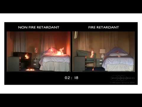 Fire retardant fabric tests & fire safety video
