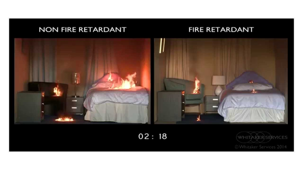 Fire Retardant Fabric Tests U0026 Fire Safety Video   YouTube