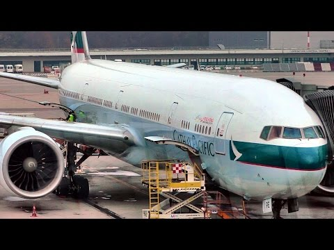 Cathay Pacific Boeing 777. CX 234. Full flight Milan - Hong Kong. Business Class Service