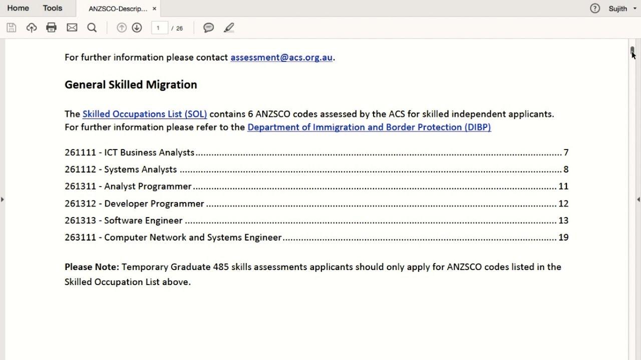 ACS Skills Assessment  Computer Software Skills