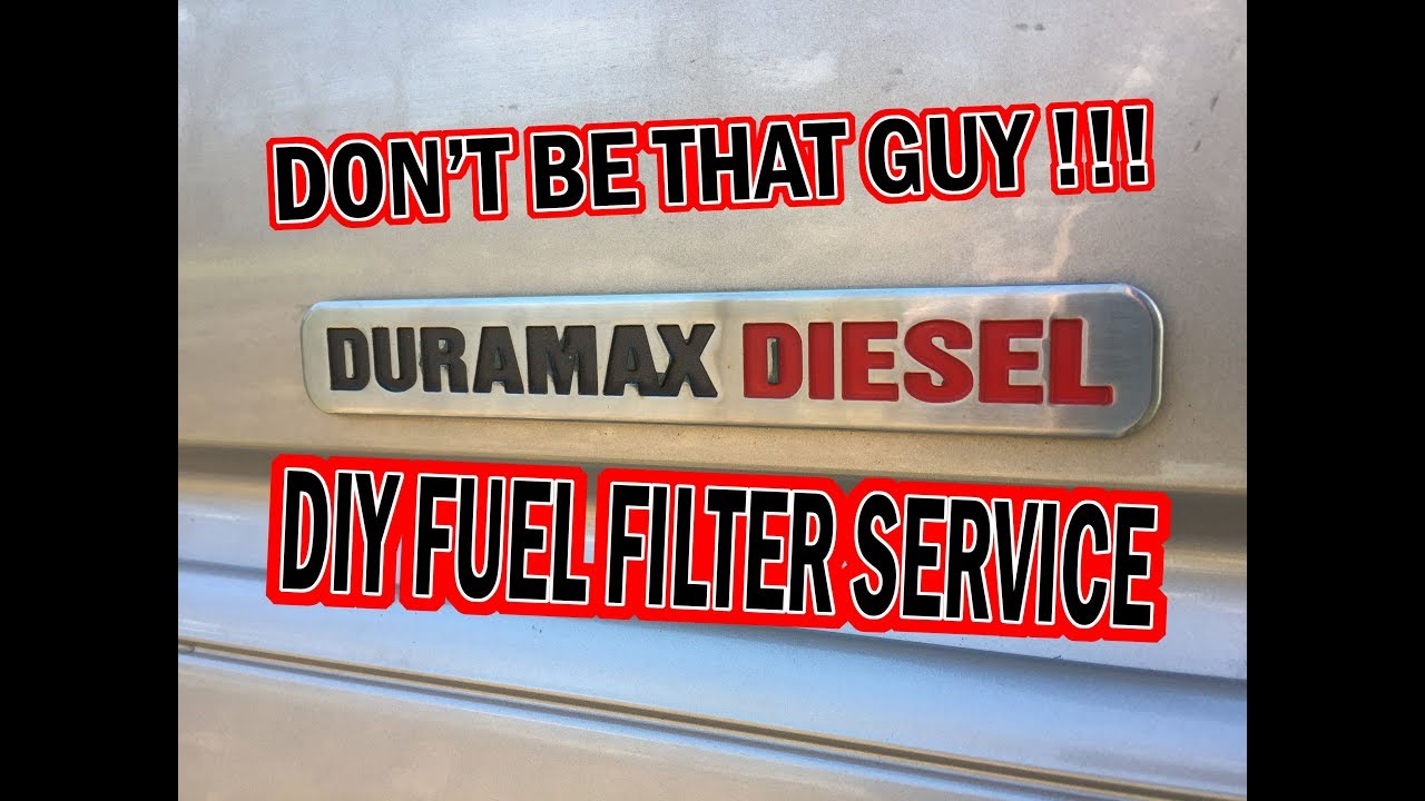 hight resolution of duramax diesel how to fuel filter replacement 2004 lly diesel diy service ep 24