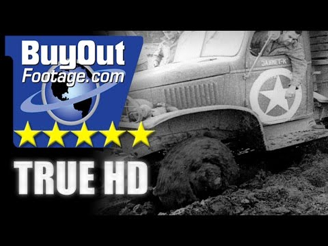 HD Historic Stock Footage WWII MUD SLUDGE | PRIVATE SNAFU CARTOON