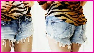 ♥ Shorts kauft man nicht, die macht man selbst ♥ DIY Denim Shorts ♥ Shorts selber machen