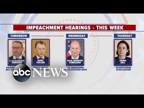 Capitol Hill gears up for 2nd week of impeachment hearings | ABC News