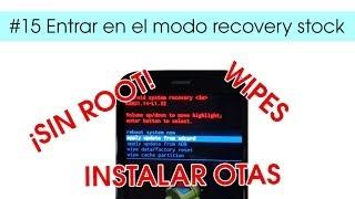 #15 Motorola Moto G : Entrar en modo recovery stock