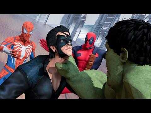 Krrish vs Ultimate Hulk vs Deadpool vs Spiderman Hollywood vs bollywood fight