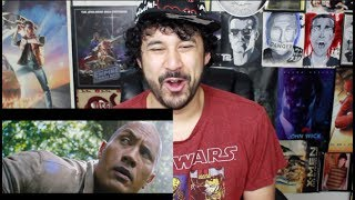 JUMANJI: WELCOME TO THE JUNGLE - Official TRAILER REACTION & REVIEW!!!