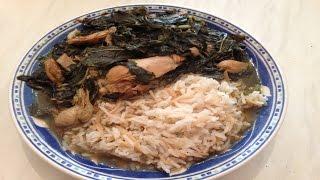 How To Make Lebanese Molokhia - الملوخية بالدجاج على الطريقة اللبنانية - Mallow Leaves