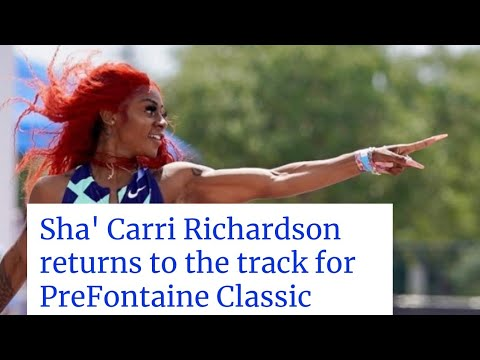 Sha'Carri Richardson returns to competition at Prefontaine