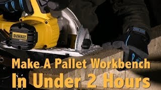 How To Make A Pallet Workbench In Under 2 Hours | Diy Pallet Furniture Ideas