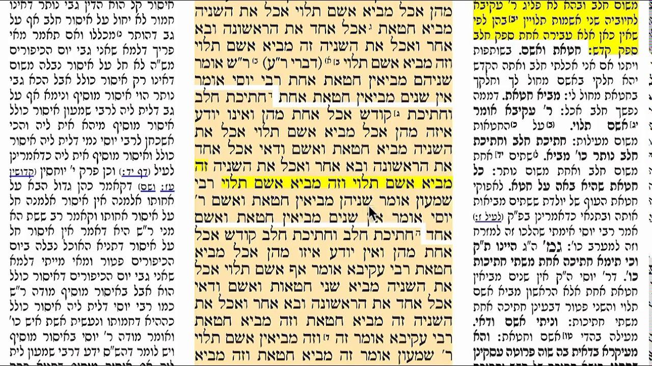הדף היומי מסכת כריתות דף כג Daf yomi Kereisos daf 23