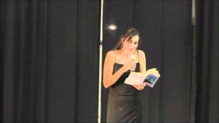 """Sørina Higgins reads from """"Caduceus"""" at the Book Release Party"""