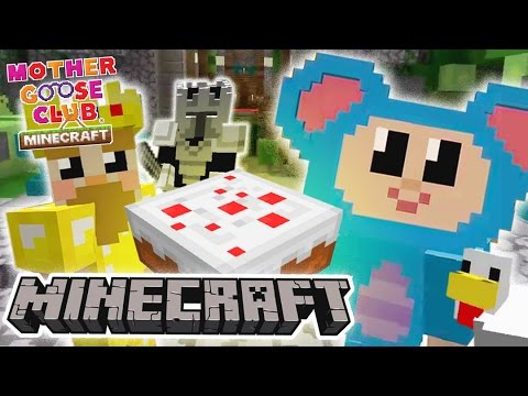 Eep Bakes a Cake | Surprise King's Birthday Game | Mother Goose Club Minecraft