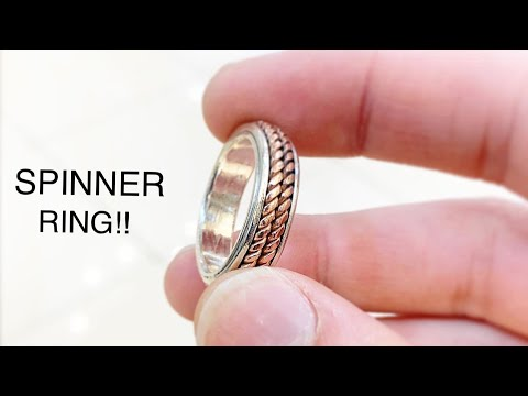 Making a Spinner Ring! Making a Silver and Copper Spinner Ring! Jewelry Making | How its Made | 4K