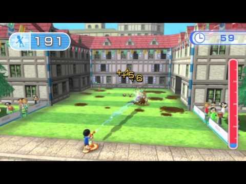 [Wii Fit U] Hose Down Gameplay